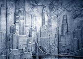 Cityscape, Blue Duo-Toned Skyline
