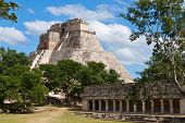 Anicent mayan pyramid (Pyramid of the Magician, Adivino  ) in Uxmal, M�?�?�?�©rida, Yucat�?�?�?�¡n, Mexico
