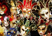 A Lot Of Carnival Masks For The Masquerade poster