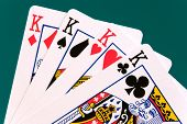 stock photo of three kings  - cards four cards 02 kings - JPG