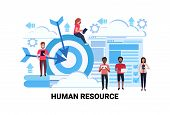 Mix Race Business People Group Team Human Resource Concept Goal Targeting Successful Teamwork Concep poster