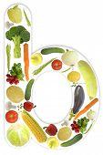 Alphabet of vegetable - b