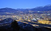 Overview of Trento in night time