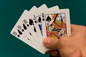 Cards With Hand 08 Poker Straight Flush