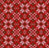 Ugly Sweater Christmas Season Winter Seamless Background Scandinavian Ornaments. poster