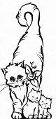 Momma Cat & Kittens