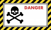 Warning Sign Of Danger With Skull, With Space For Text Explanation. Vector Illustration For Your Des poster