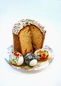 Easter Cake With Eggs