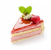 stock photo of torte  - Raspberry cake - JPG