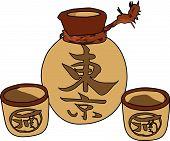 Vector Sake Set