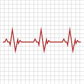 Pulse. The Concept Is A Medical Indicator Of The State Of The Heart Rhythm. Vector Illustration. Eps poster