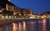 Beach Of Alicante At Dusk