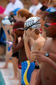 Junior Swimmers Prepare To Swim Relay
