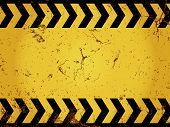 image of traffic sign  - Blank construction sign with rusty grunge effect - JPG