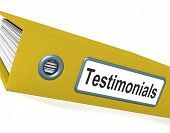 image of tribute  - Yellow Testimonials File Shows Recommendations And Tributes - JPG