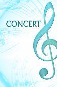 Blue Concert Poster