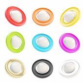 Copyspace Round Glossy Circle Button Emblem Badges