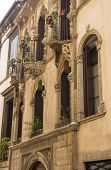 pic of vicenza  - Facade of palace of chronicler Antonio Pigafetta in Vicenza Italy in typical style from 15th century - JPG