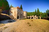 pic of apostolic  - The church of Panayia Hodegetria at the historical site of Mystras a Byzantine castle in Greece - JPG