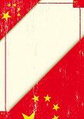 Letra do chineses grunge. Um cartaz com uma bandeira chinesa para você.