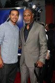 Los Angeles - AUG 16:  James Pickens Jr, Jesse Williams arrive at the