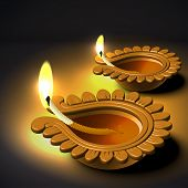 picture of jain  - Diwali Oil Lamp - JPG