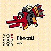 Aztec calendar symbols - Ehecatl or wind (2)