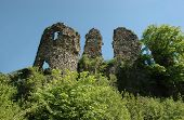 Ruins Of Medieval Castle In Hust