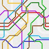 Esquema de metro sin fisuras. Vector.