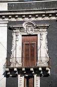 Baroque door in Catania