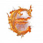 Fire alphabet euro symbol