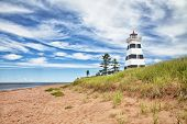 West Point Lighthouse and beach, Prince Edward Island, Canada