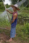 Fisherman With Stave, Asia poster