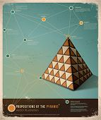 Retro Infographic template design; Propositions of the Pyramid,  Vector Illustration