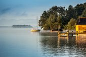 An image of a beautiful scenery at Starnberg lake