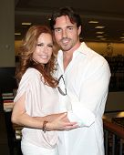 LOS ANGELES - AUG 18:  Tracey Bregman, Aaron Cameron at the book signing for William Bell Biography