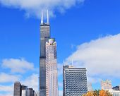 CHICAGO, IL - OCT 1: Willis tower close up on October 1, 2011 in Chicago, Illinois. Willis Tower kno