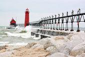 Pier With Beach Rocks