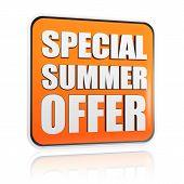Special Summer Offer Orange Banner