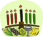 Illustration of Kwanzaa Symbols