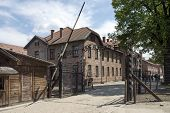 OSWIECIM - MAY 26: Gate at the entrance of in the concentration camp in Oswiecim, Poland on May 26,