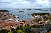 Panorama Of Island Hvar In Croatia