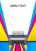 impressora. impressão em cores.