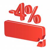 Minus Four Per Cent (red)