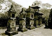 Induism Temple Pura Desa Batuan, Details, Monochrome