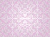 Pink  & Silver Vintage Wallpaper Background Design