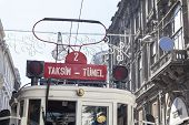 Nostalgic Tram In Istanbul, Turkey.