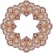 Ornate vector circle pattern in indian style