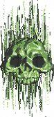 Computer Virus Skull Concept