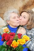 Girl Kissed Grandmother